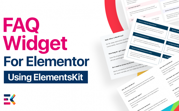 Gain new customers and save time with this FAQ Elementor Widget by answering constant questions and adding many advanced styling options.