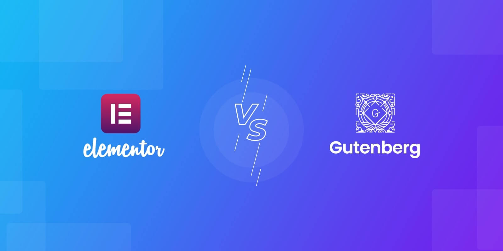 Elementor Vs Gutenberg feature image