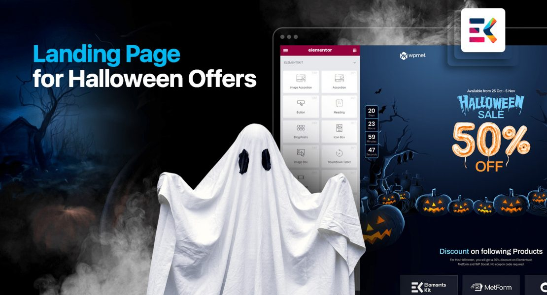How to Create a wordpress Landing Page for Your Halloween Offers with ElementsKit
