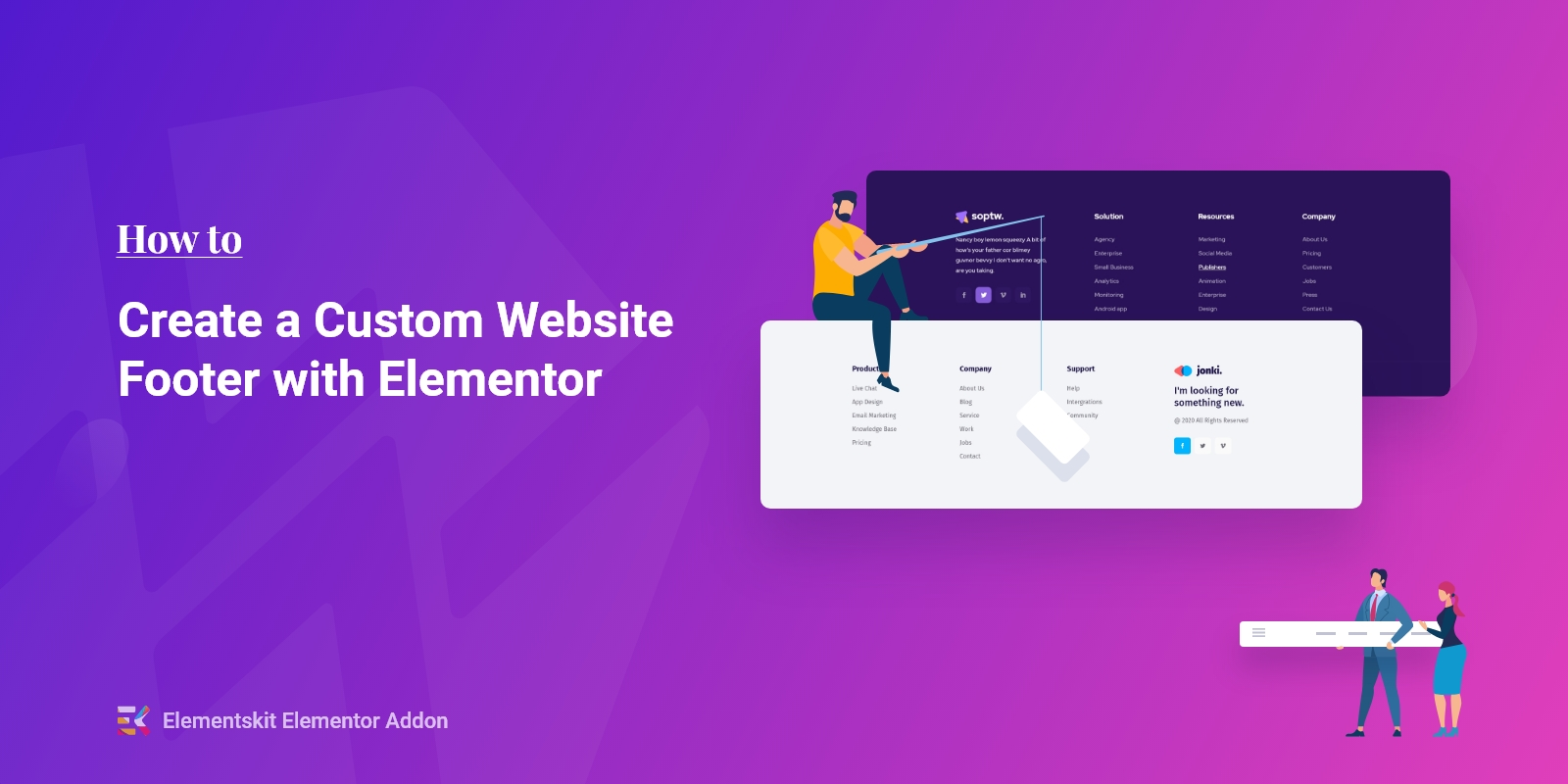 How to Create a Fully Custom Website Footer with Elementor