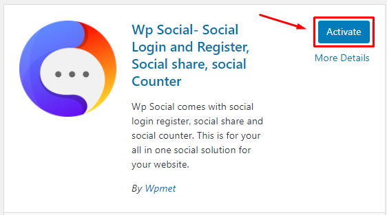 Activate Wp Social