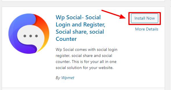 Install Wp Social
