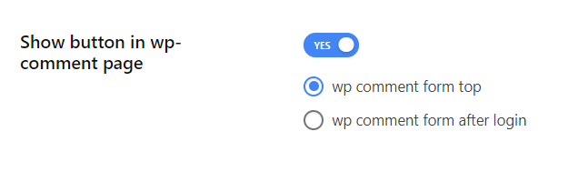 Enable show button in wp-comment page