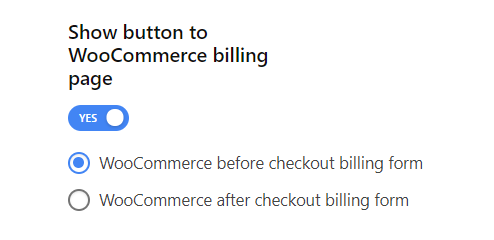 Enable show button to WooCommerce billing page