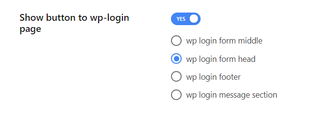 Enable show button to wp-login page