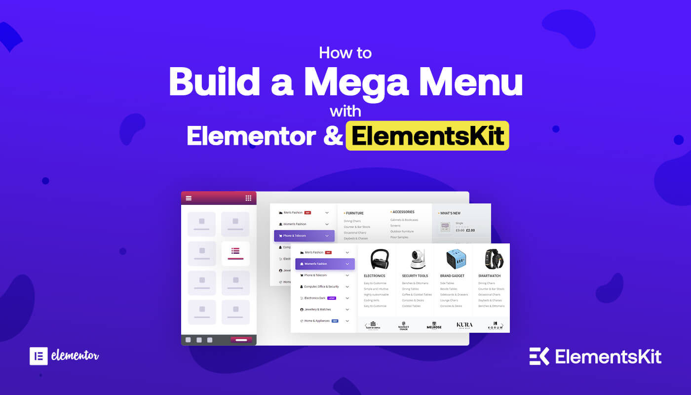 How to build a mega menu with elementor and elementkit