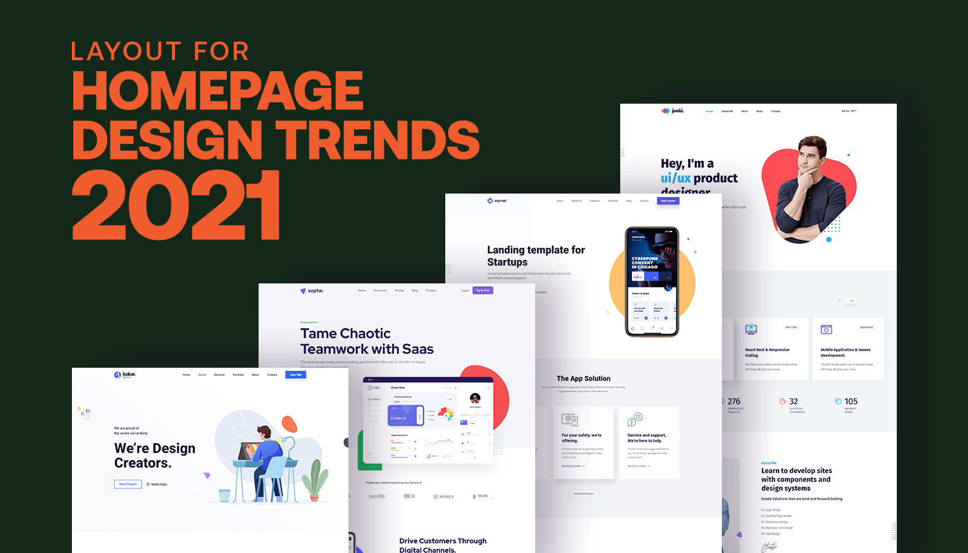 Layout for Homepage design trends