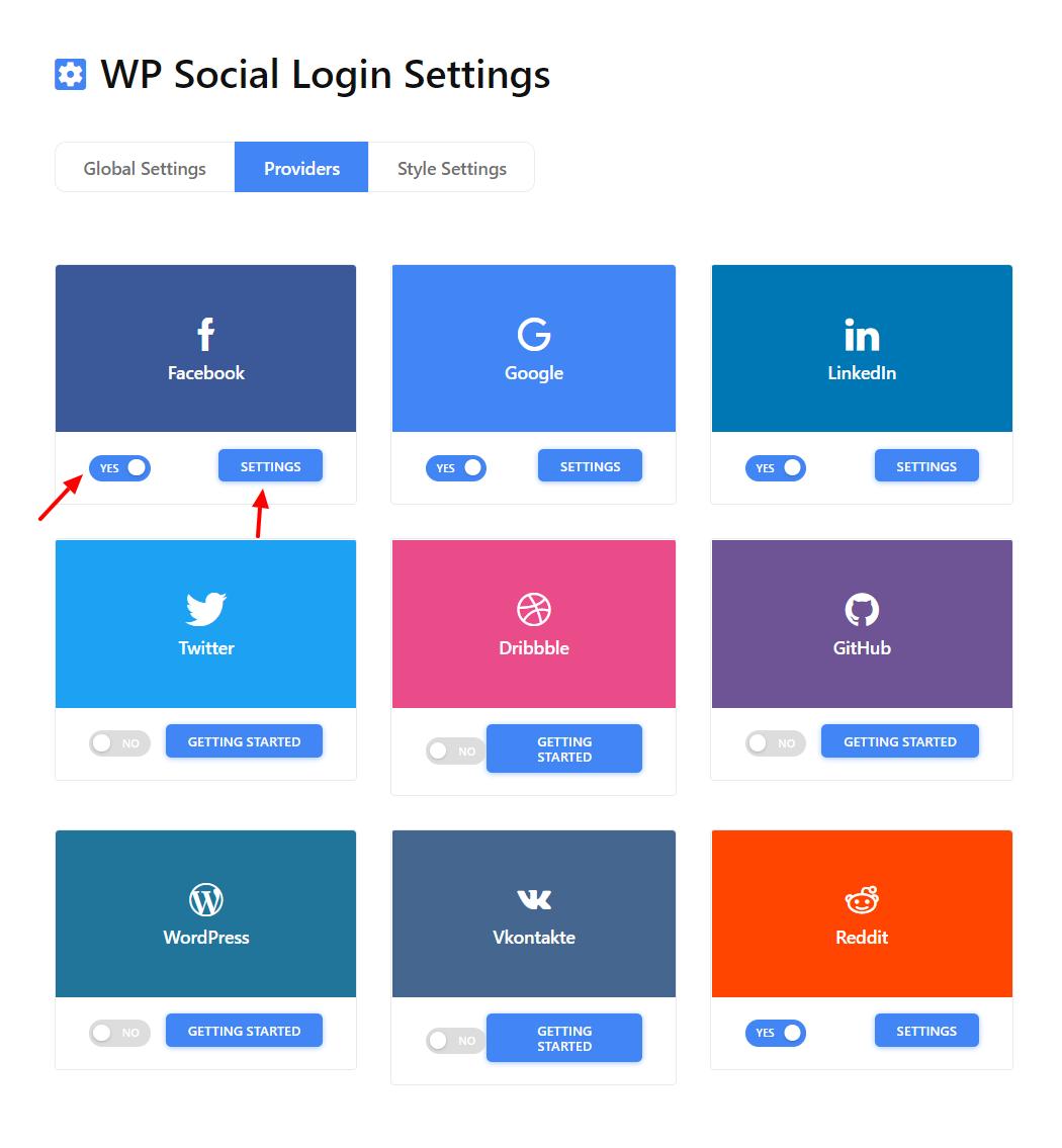 List of Wp Social Login Providers