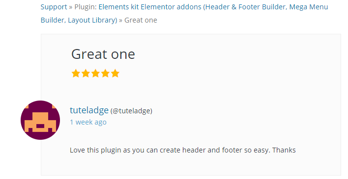 A User's Review on ElementsKit Plugin