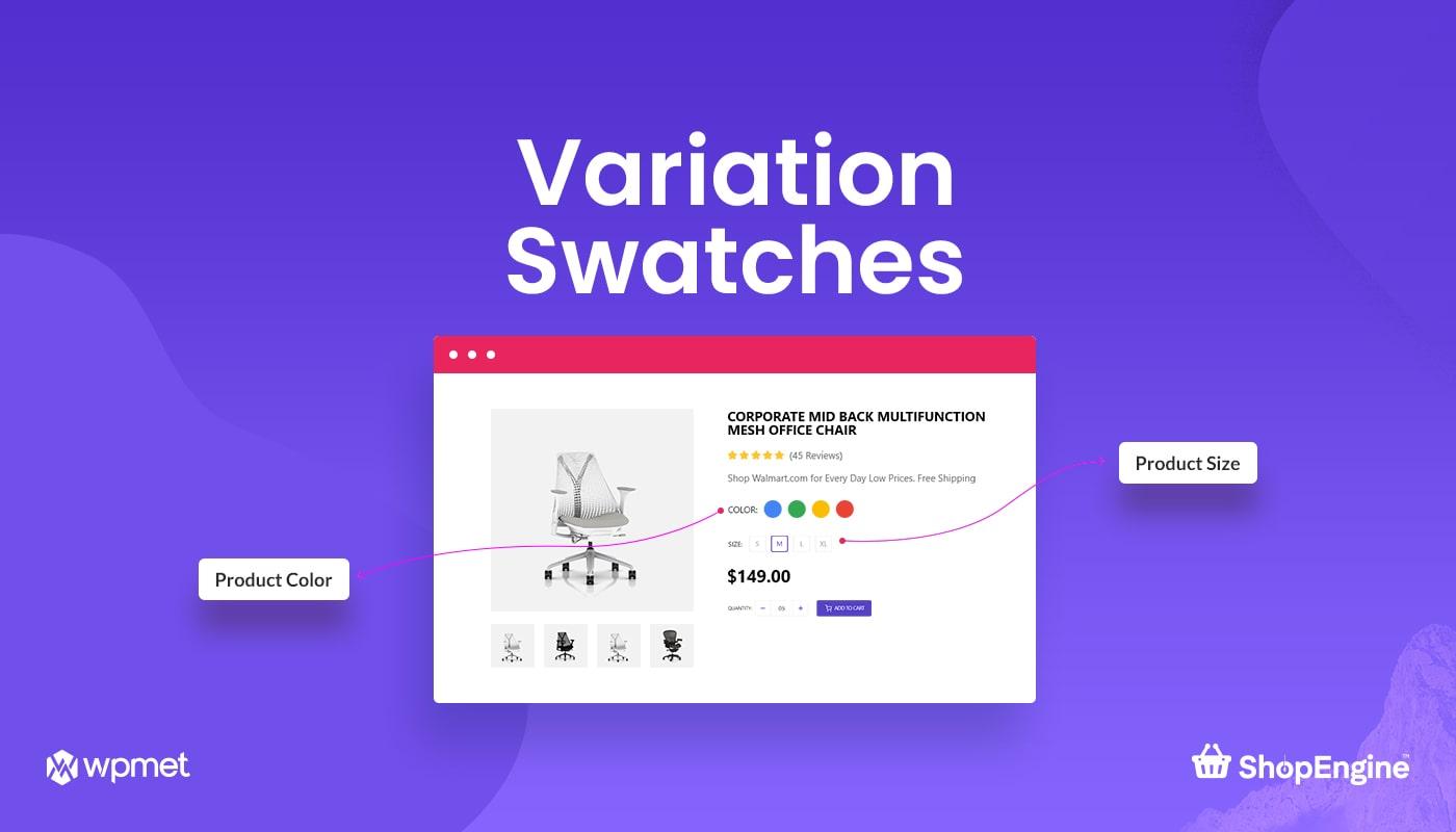 Variation Swatches in ShopEngine