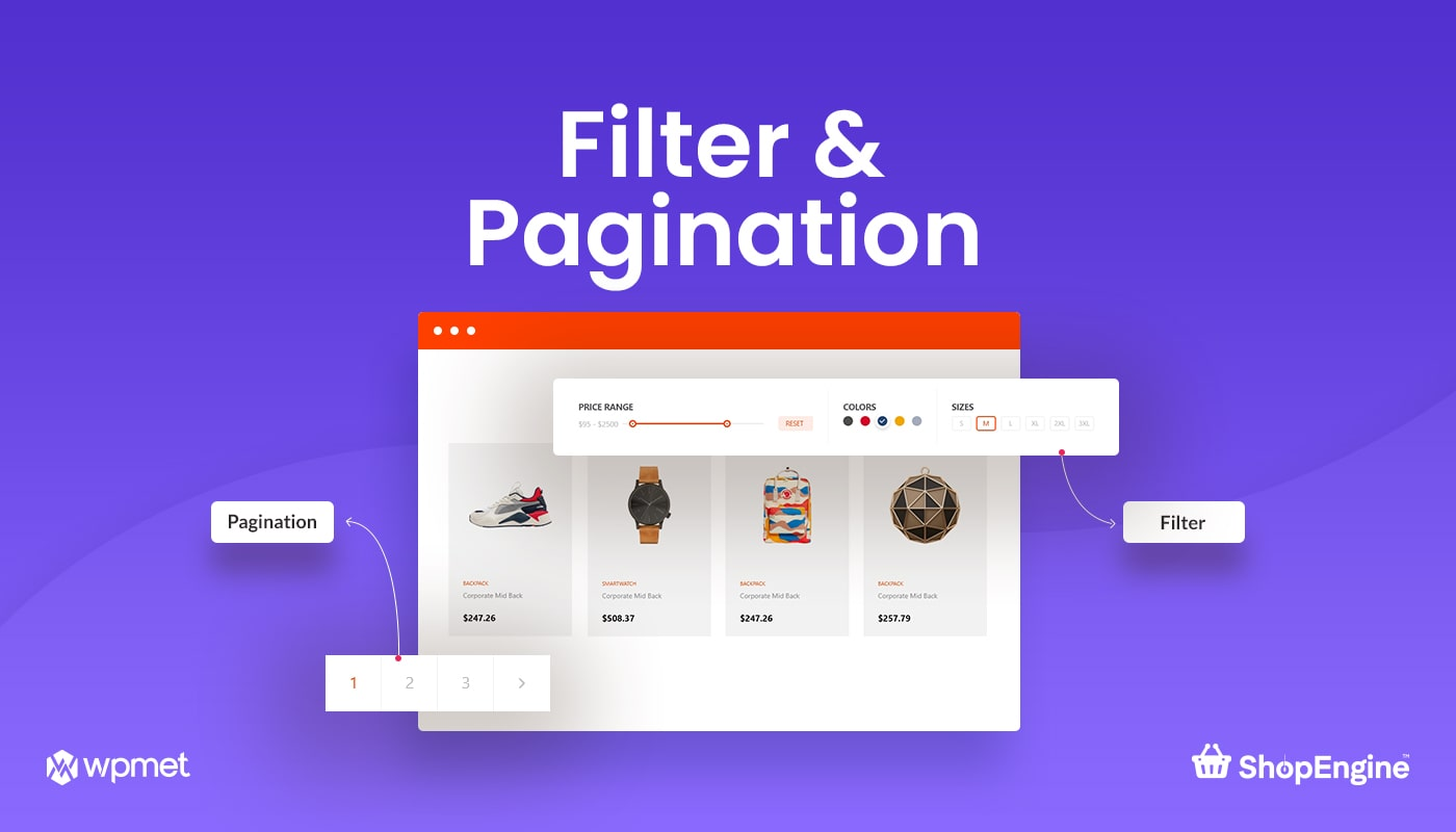 Filter and Pagination Module in ShopEngine