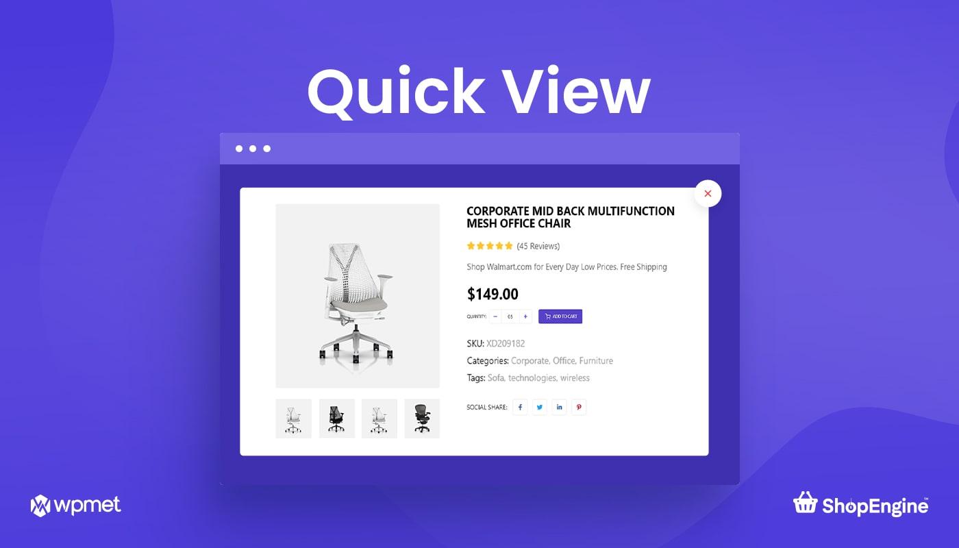 Quick View Module in ShopEngine