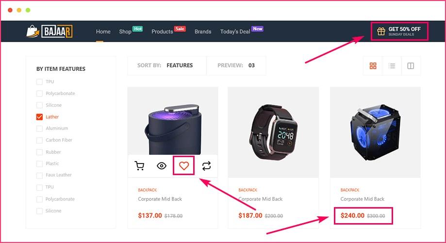 ShopEngine_Enable Wishlist_Products Comparison_Vouchers