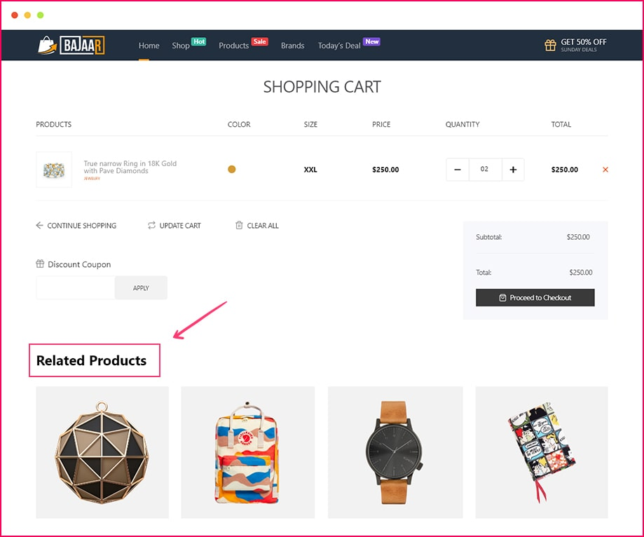 Product Upsells widgets helps you suggest similar products