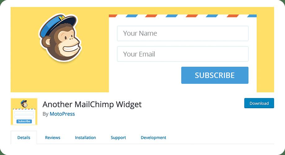 Another MailChimp Widget plugin