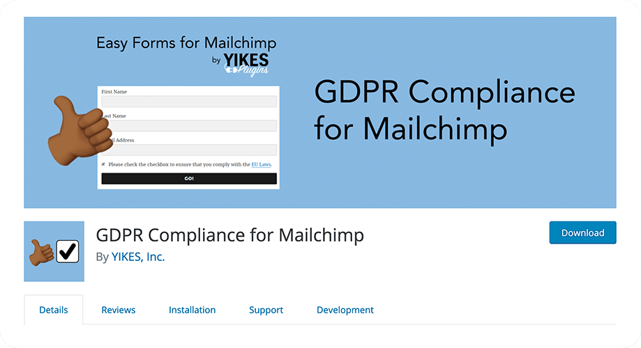 GDPR Compliance for MailChimp plugin