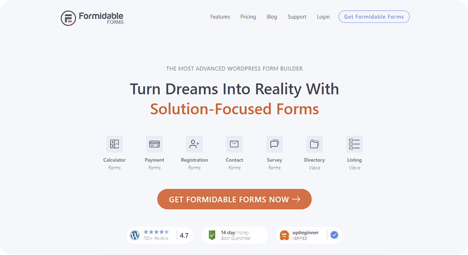 Formidable Forms Best Contact Form in WordPress