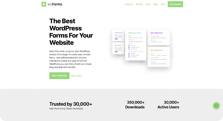 weForms Best Contact Form in WordPress