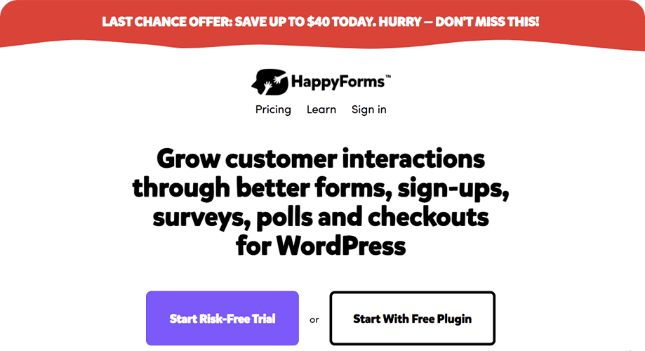 Happy Forms Best Contact Form in WordPress