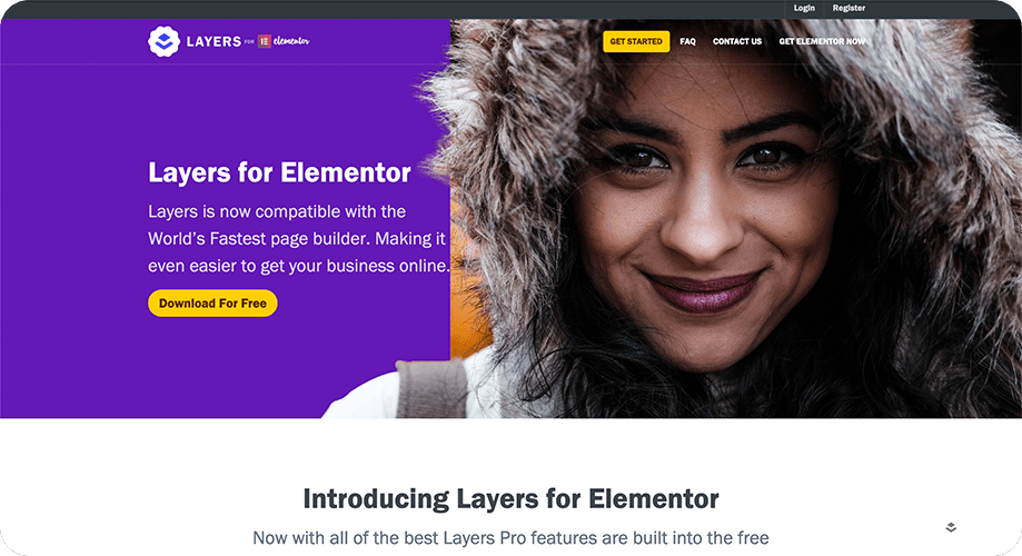 Layers for Elementor Theme