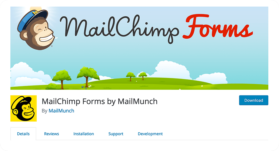 MailChimp Forms by MailMunch plugin