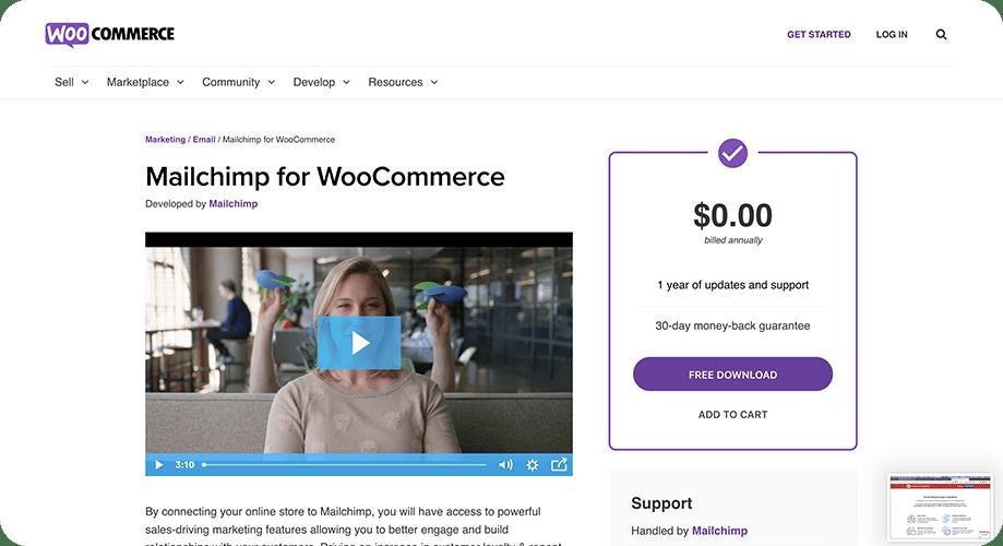 MailChimp for WooCommerce plugin