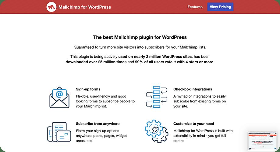 MC4WP: Mailchimp for WordPress plugin