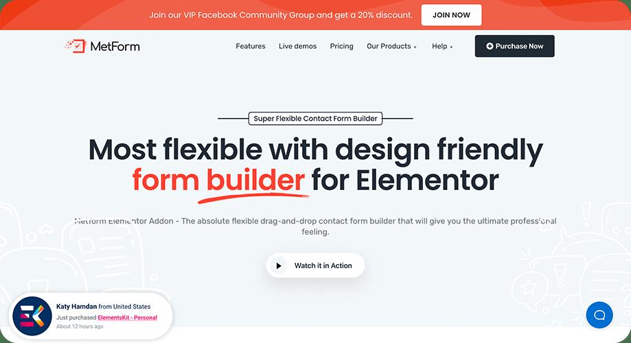 MetForm Form Builder Plugin