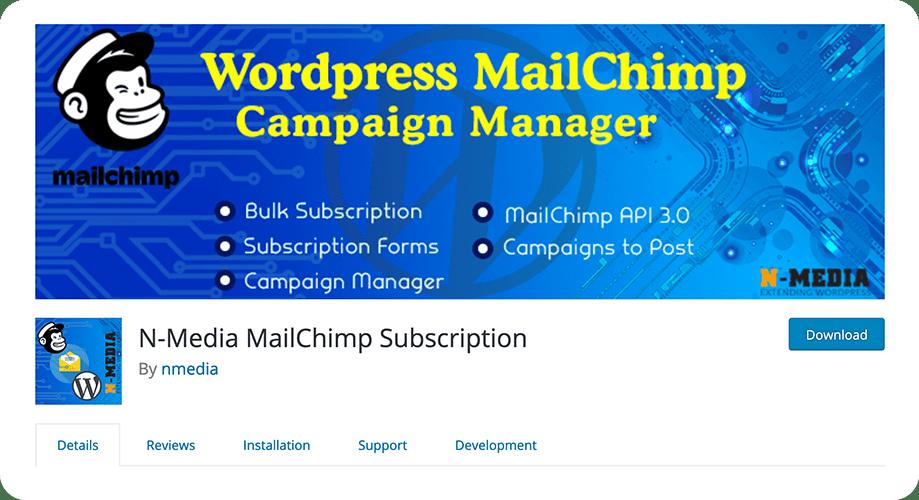 N-Media MailChimp Subscription