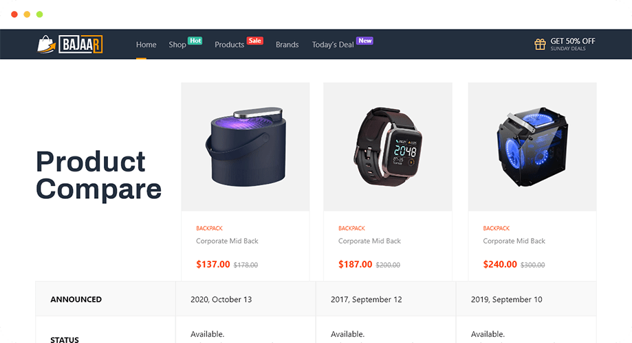 Product Compare by ShopEngine