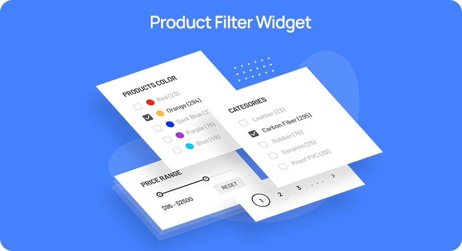 Product Filter Widget Helps Users Filter the Products They Want