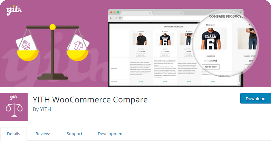 YITH WooCommerce Compare Plugin for WordPress