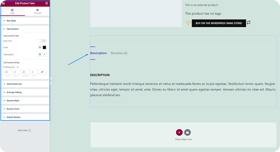 Add and Customize Product Tabs