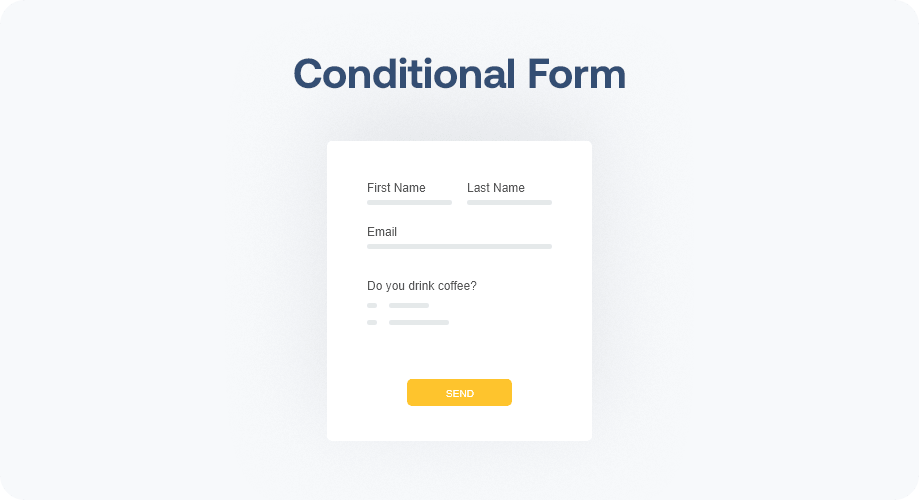 Create Conditional Form with MetForm