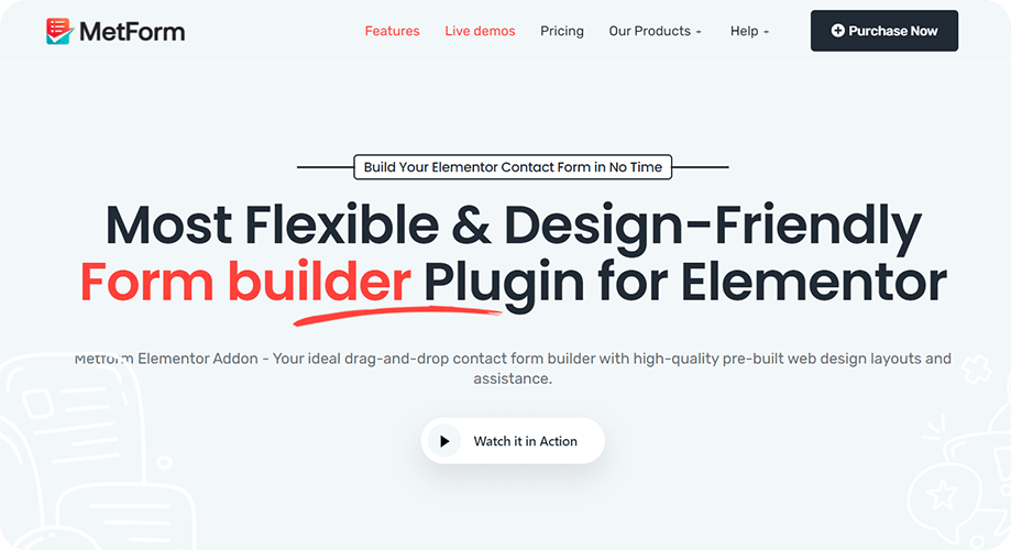 MetForm Form Builder