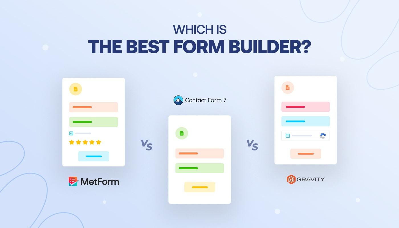 MetForm vs Contact Form 7 vs Gravity Forms Banner