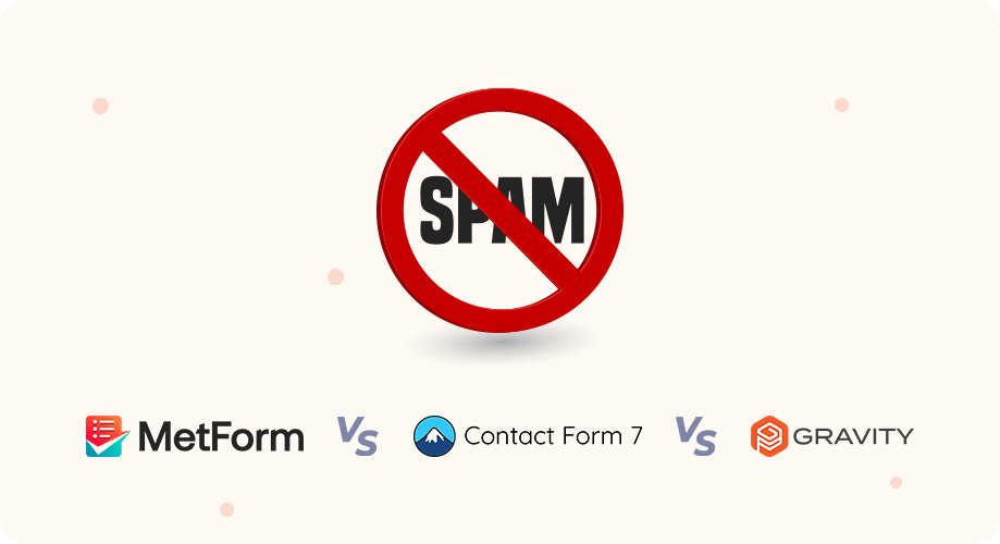 Spam protection of Metform vs Contact form 7 vs Gravity forms
