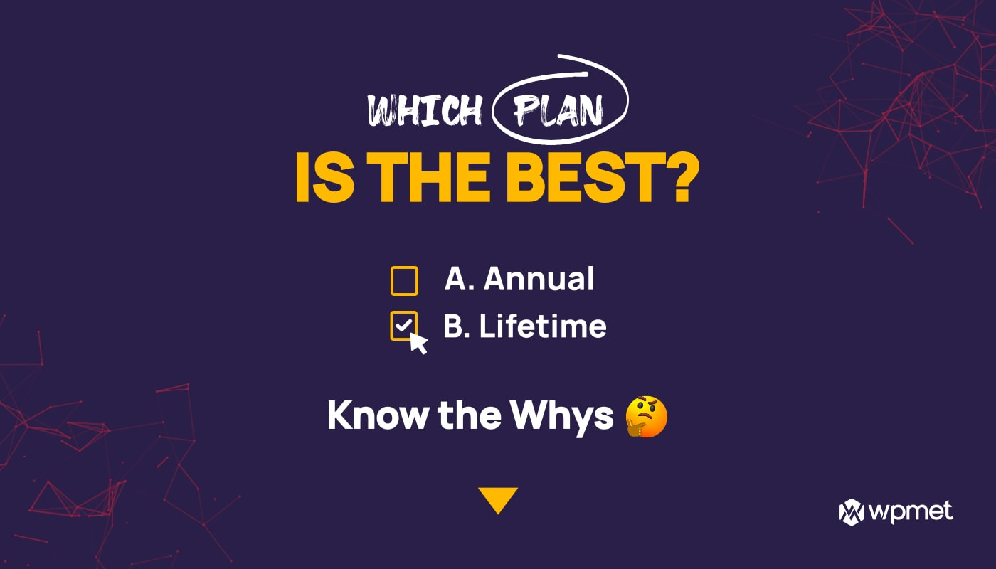 Why should you prefer a lifetime plan banner