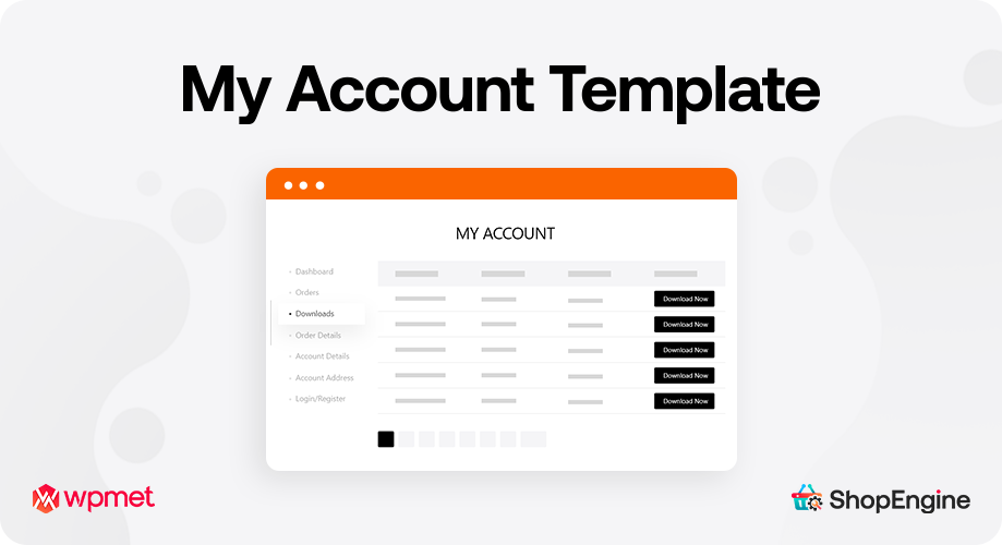 My Account Template