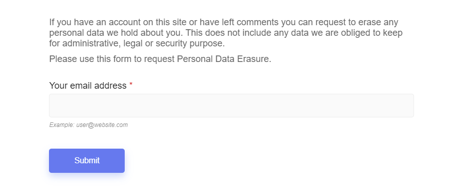 Data Erasure Request Form