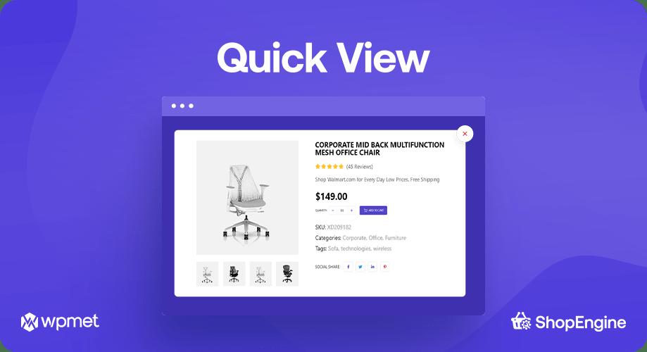 Quick View, ShopEngine