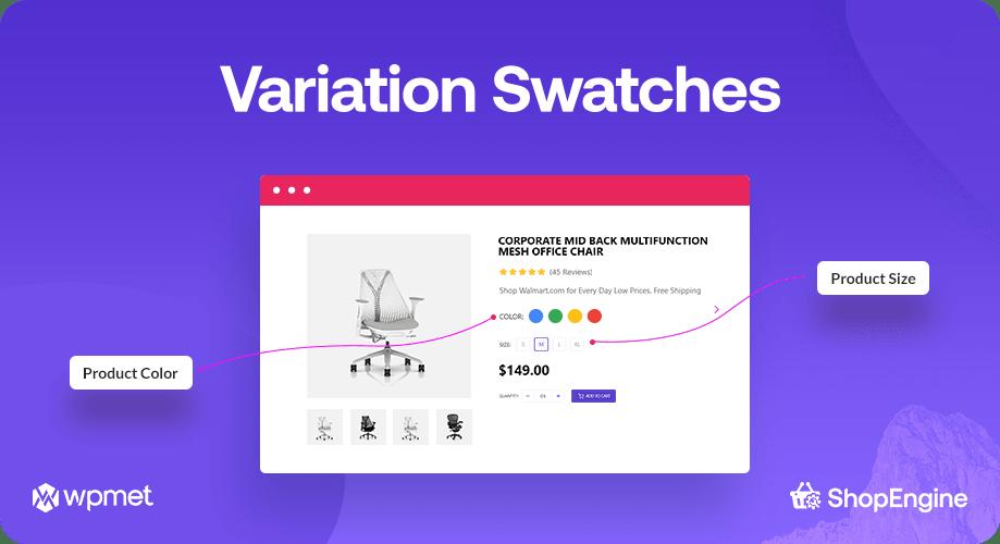 Variation Swatches, ShopEngine