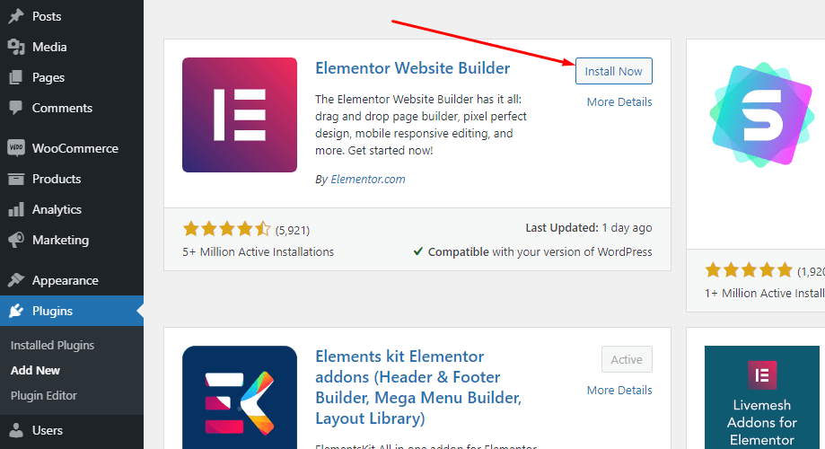 how to install elementor in WordPress