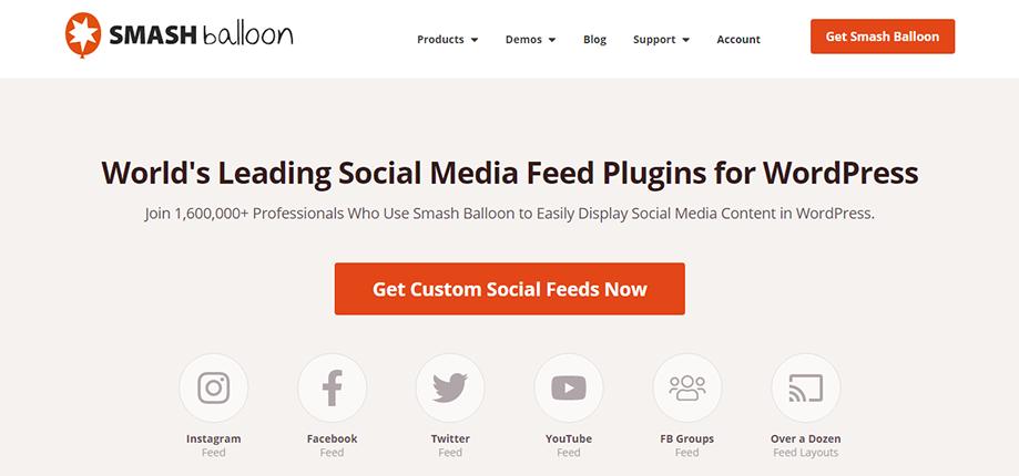 Social Media feeds of WordPress Social Media Plugin Smash Balloon