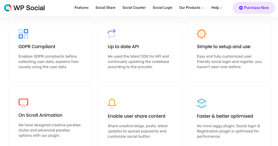 Key Features of Social Media Plugin WP Social