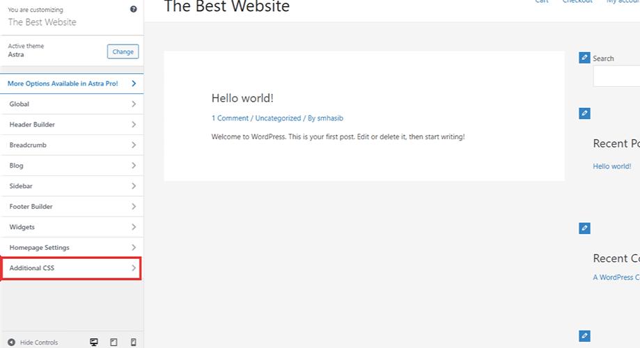how to add custom css in WordPress