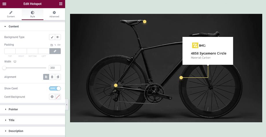 Create WordPress hotspot images with Elementskit