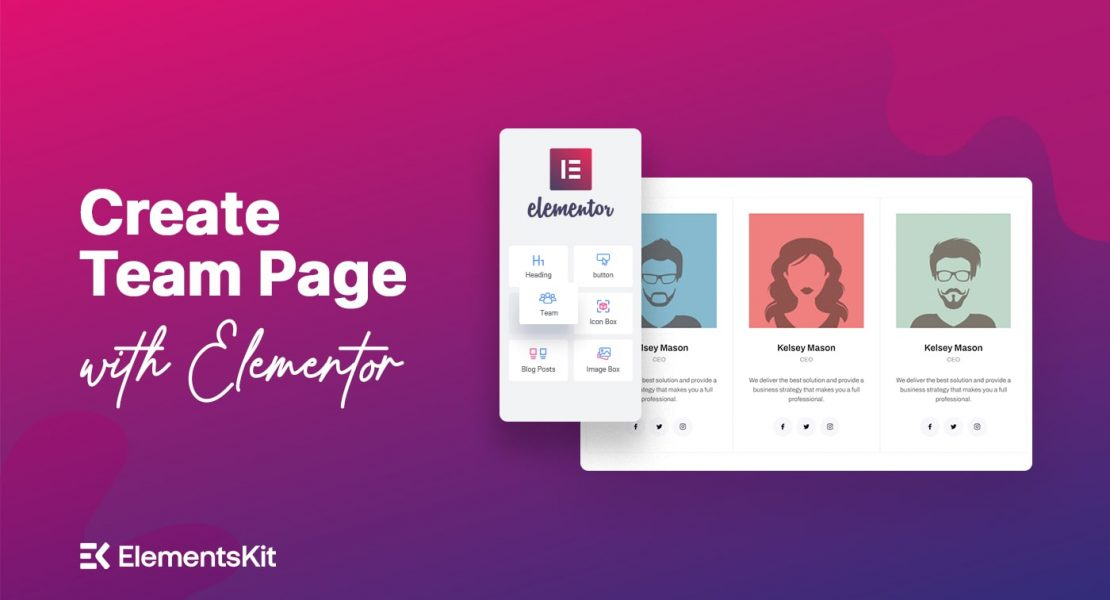 Create team section with elementor - Wpmet