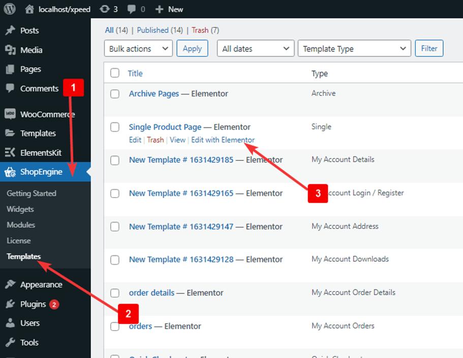 edit single product template