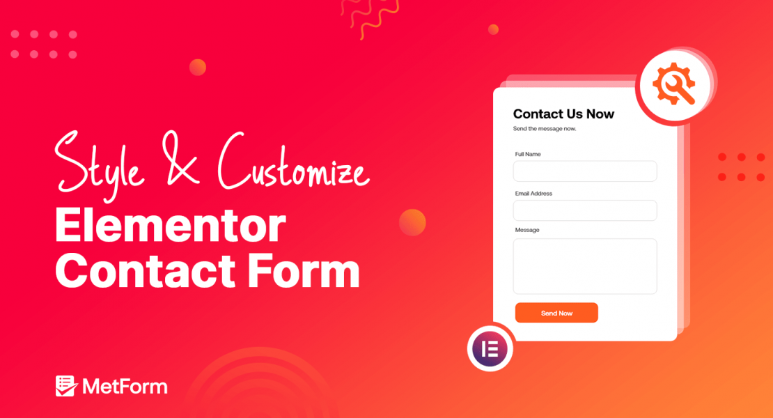style and customize elementor contact form